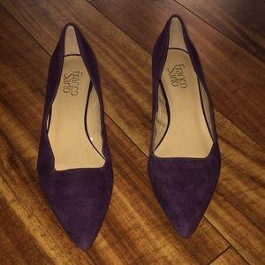 Franco Sarto size 81/2 purple 1 inch New